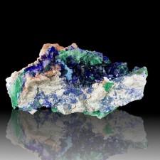 "4.2"" Flashy Blue AZURITE Crystals w-Silky Green MALACHITE Milpillas MEX for sale"