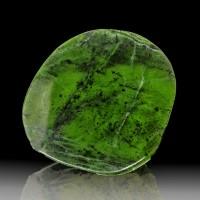 "4.7"" Super Saturated Green Nephrite JADE Polished Slice Myanmar Burma for sale"