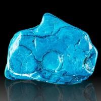 "3.9"" POLISHED CHRYSOCOLLA Turquoise Blue w-Green Malachite Matrix Congo for sale"