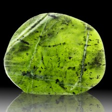 "4.8"" 195g Polished Slice Burmese NEPHRITE JADE Deep Vivid Green Myanmar for sale"