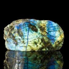 "4.3"" Iridescent Neon Blue+Yellow+Orange Polished LABRADORITE Madagascar for sale"