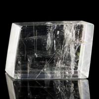 """3.7"""" Clear ICELAND SPAR Polished Crystal Rhomb Double Refracting Brazil for sale"""