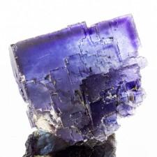 "2.9"" Purple Over Blue Cubic FLUORITE Crystals Superb PHANTOMS Illinois for sale"