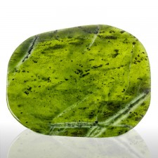 "4.8"" 189g Polished Slice Burmese NEPHRITE JADE Deep Vivid Green Myanmar for sale"