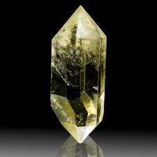 "2.9"" Yellow CITRINE QUARTZ Polished Gemmy Dbl Terminated Crystal Brazil for sale"