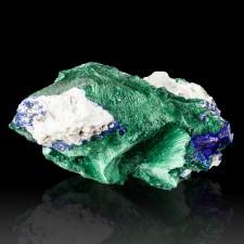 "2.4"" Indigo Blue AZURITE Crystals +Green Radiating MALACHITE Milpillas for sale"