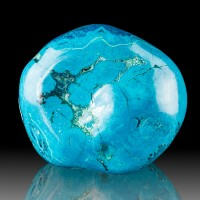 """2.9"""" Smooth Shiny Rich Turquoise Blue CHRYSOCOLLA Polished Nugget Congo for sale"""