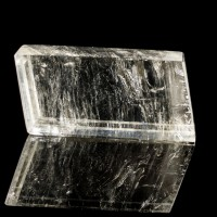 """3.6"""" Clear Double Refracting ICELAND SPAR Polished Crystal Rhomb Brazil for sale"""