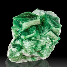 "4.9"" Vivid GREEN PHANTOM FLUORITE with Etched Phantom Edges Madagascar for sale"