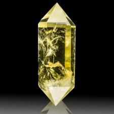 "2.6"" Dbl Terminated Yellow CITRINE QUARTZ Gemmy Polished Crystal Brazil for sale"