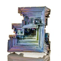 "2.7"" Hoppered BISMUTH Crystals Shiny Metallic BlueMagentaSilver England for sale"