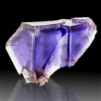 "3.1"" BLUE with PURPLE PHANTOM FLUORITE Sharp Cubic Crystals Denton M IL for sale"