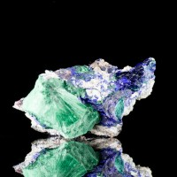 "3.1"" Navy Blue AZURITE Crystals with Green Malachite Milpillas Mexico for sale"