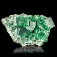 "5.5"" GREEN PHANTOM FLUORITE Madagascar Sharp Cubic Crystals on Matrix for sale"
