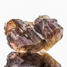 "4.1"" Violet Elestial AMETHYST SCEPTER w-SMOKY QUARTZ Crystal Zimbabwe for sale"