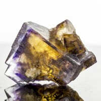 "2.3"" Kentucky PHANTOM FLUORITE Yellow Inside Blue-Violet Vivid Colors for sale"