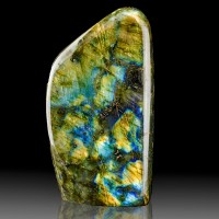 "5.7"" Iridescent Flickering Turquoise Gold Bronze LABRADORITE Madagascar for sale"