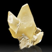 """3.4"""" Light Golden Yellow CALCITE Lustrous Terminated Crystals Missouri for sale"""