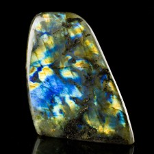 "4.4"" Shimmering Blue+Yellow+Bronze LABRADORITE Polished Form Madagascar for sale"