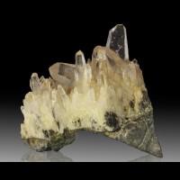 "2.4"" Sharp Water Clear JAPAN LAW TWIN QUARTZ Crystal on Matrix Peru for sale"