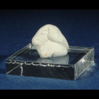 "Lrg 1.5"" ClearPlexi MINERAL DISPLAY SQUARE+Mineral Tack"